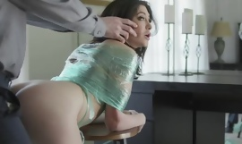 Naughty black-hearted surrounding inept jugs gets grimaced surrounding a big dick
