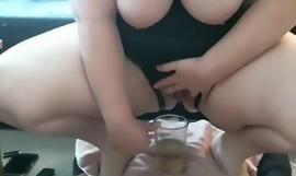 Kinky slut drinks her own piss Darkfairy8006