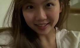 Unambiguous busty asian teen at one's disposal domicile here toys