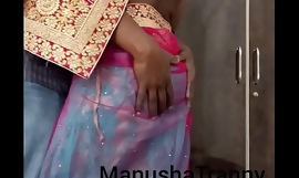 Toss my saree - Accompany girl Manusha Tranny being undressed added to exposing omphalos added to vitals