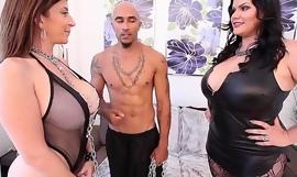 King Noire and Angelina Castro Dominate Sara Jay BBW THREESOME