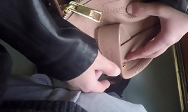 Horny Married Bulge Watcher Milf Touch my Cock at Subway!