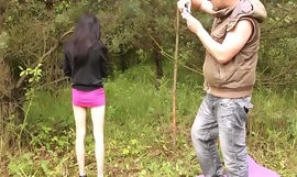 MyFirstPublic Ultra skinny black hair babe just hold the pussy for older guy