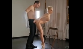 Blonde flexible ballerina gets fucked by lucky dude
