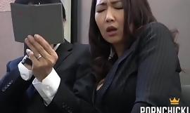 JAV Secretary fucked at one's fingertips the end of one's tether their way older boss - More at one's fingertips PornChickixxx video