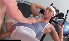 Fitness Rooms Morgan Rodriguez ripped tights hard fast fucking in the gym