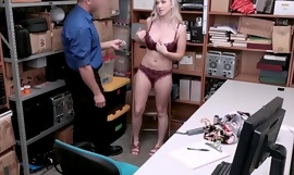 18yo thief Emily Right throated before police doggystyle