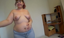 Beautiful bbw in the air a big ass in tight shorts on tap a doctor's appointment, full fisting in medical gloves, lesbian babes POV.