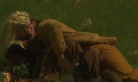 Eva takes the big fat cock after her pussy licking good and wet in the wild