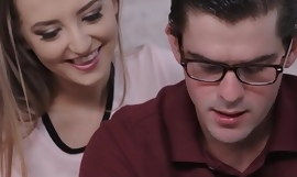 Hot Step Sister Seduces Nerdy Brother