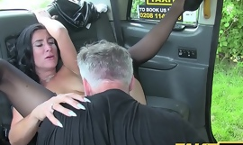 Fake Taxi Sex mad MILF likes to ride cock in London taxi