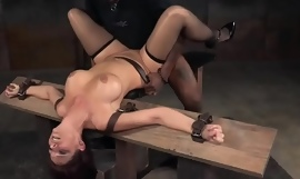 Bigtitted bdsm sub with redhair dominated