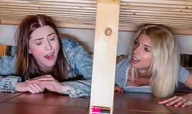 Pervert Young Guy Fucks His Stepmom and Stepsis Stuck Under The Bed