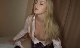 Beautiful Schoolgirl Abigaile Johnson Has Sex